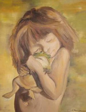 Froschliebe - Ölbild - 2000
