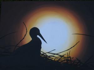 Abendsonne - Ölbild - 2002