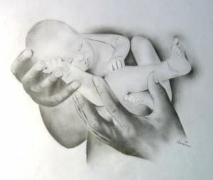 Geborgenheit - Bleistift - 2004
