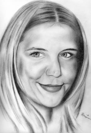 Katie Holmes - Bleistift - 2008