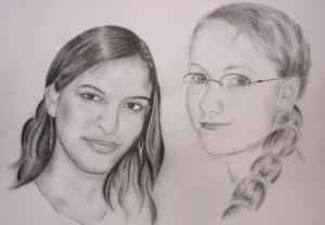 Muniba & Eve - Bleistift - 2007