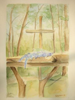 Altar / Waldgottesdienst - Aquarell - 2006