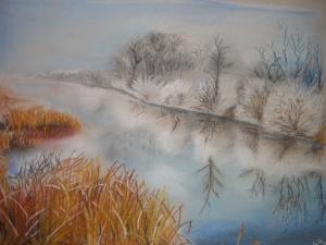 Winterlandschaft - Pastell