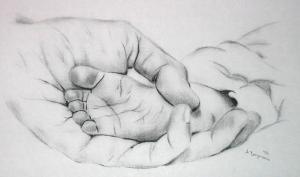 Babyfuß - Bleistift - 2002