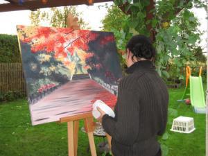 Malerei für die Brandenburger OFF ART 2006