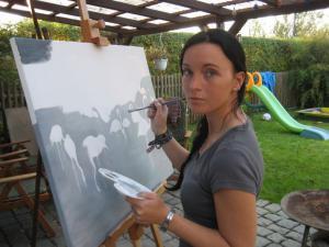 Malerei für die Brandenburger OFF ART 2007