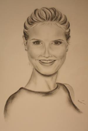 Heidi Klum - Bleistift - 2010