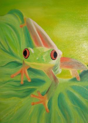 Der Frosch - Ölbild - 2005