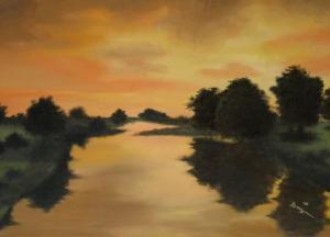 Abenddämmerung - Ölbild - 2005