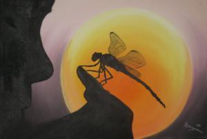 Libelle - Ölbild - 2006