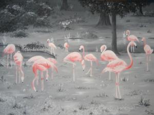 Flamingos - Ölbild - 2007