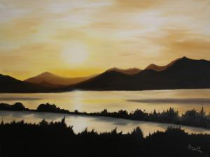 Seenlandschaft - Ölbild - 2009