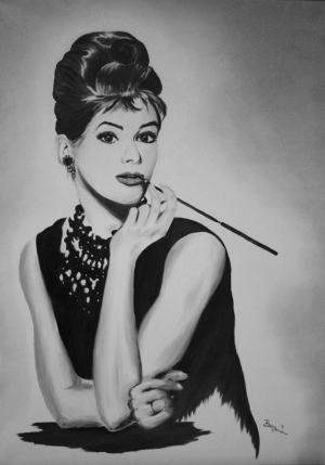 Audrey Hepburn - Ölbild - 2011