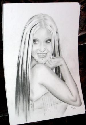Christina Aguilera - Bleistift - 2005