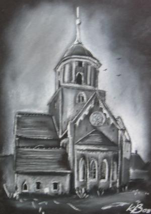 Nikoleikirche Treuenbrietzen - Pastell